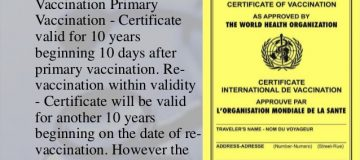 Yellow fever vaccination for travelers