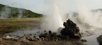 Hot springs in Rwanda